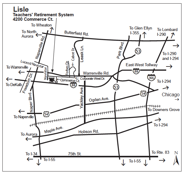 Lisle Office Map